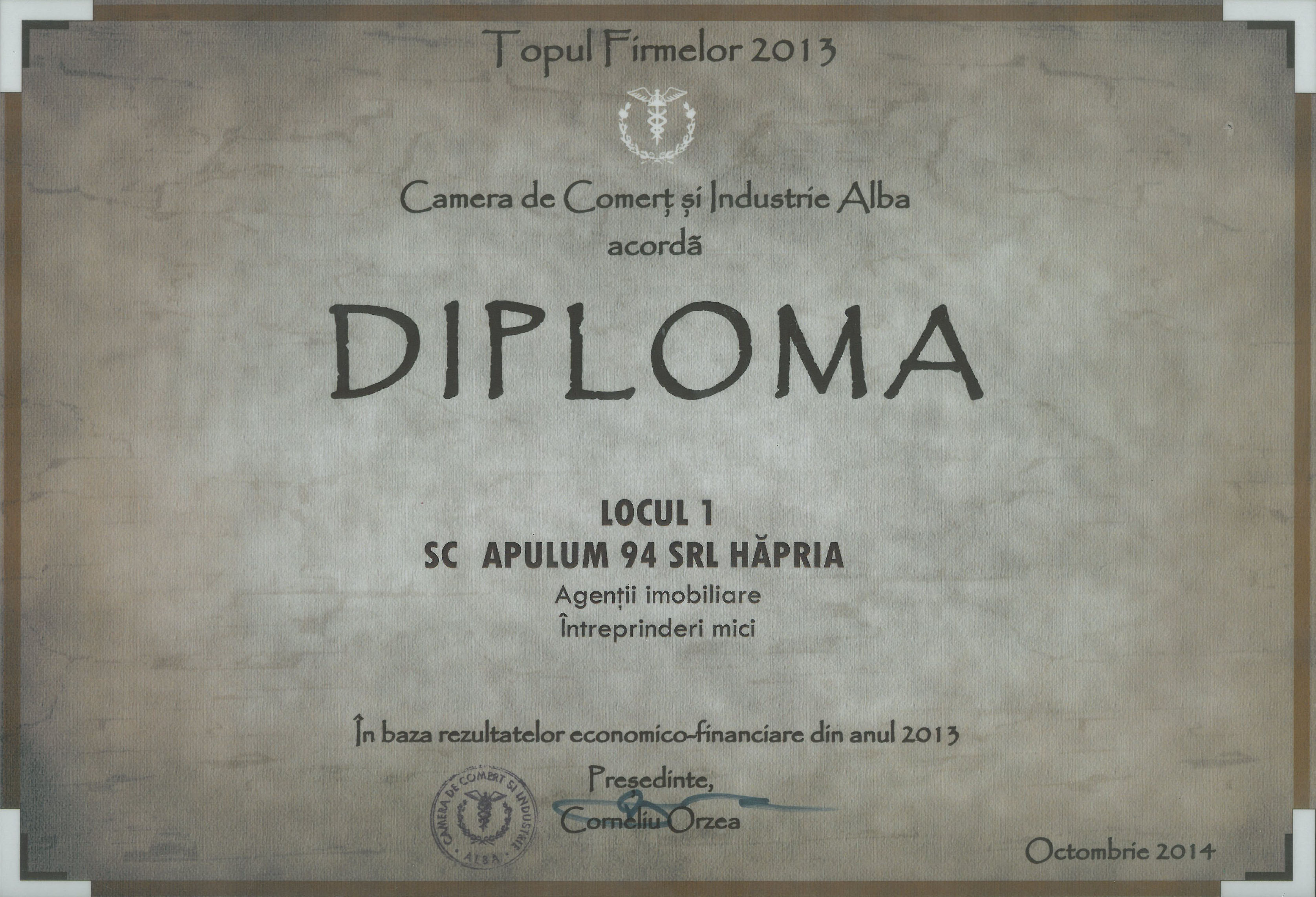Topul Firmelor - 2014